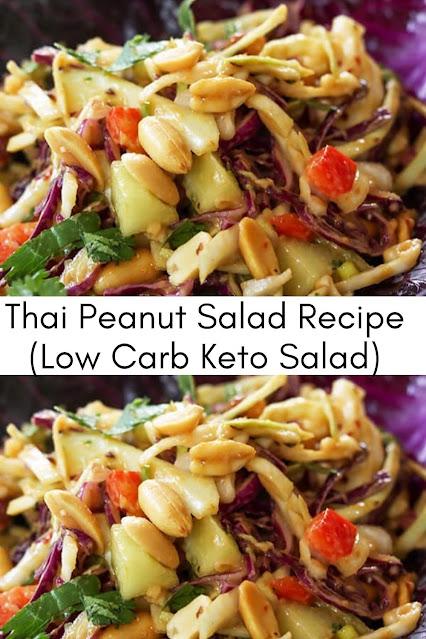 Thai Peanut Salad (Low Carb & Keto)