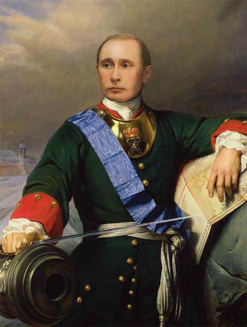 Putin no lugar do czar Pedro I, o Grande