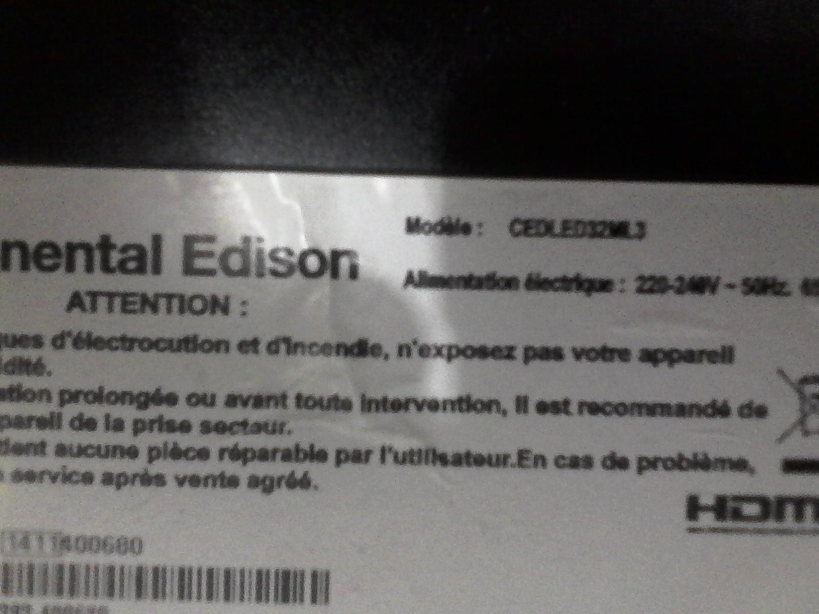 DUMP Continental Edison cedLED32ML3 carte mere 17MB55 Vestel