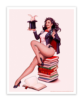Zatanna Fine Art Giclee Prints by John Keaveney x Bottleneck Gallery x DC Comics