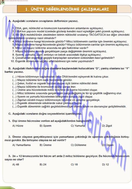 8. Sınıf Öğün Yayınları Fen Bilimleri Ders Kitabı Cevapları Sayfa 38