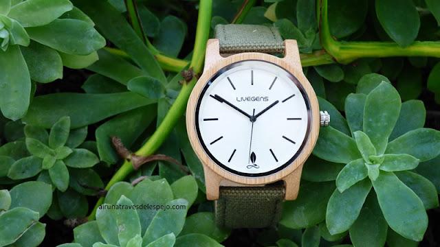 reloj livegens madera sostenible
