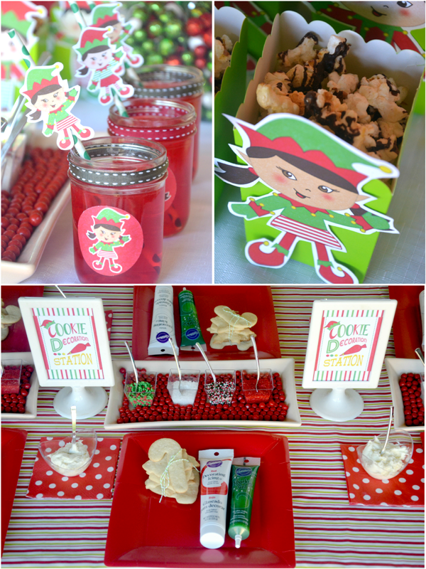 Sweet Table de Fête de Noël Petits Lutins | BirdsParty.fr