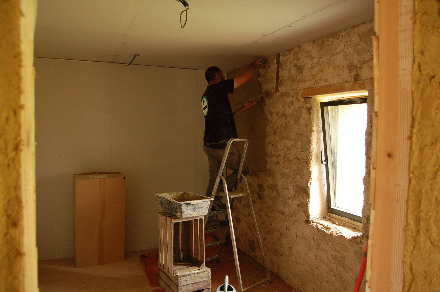 la gremiere en travaux enduits argile encore et toujours. Black Bedroom Furniture Sets. Home Design Ideas