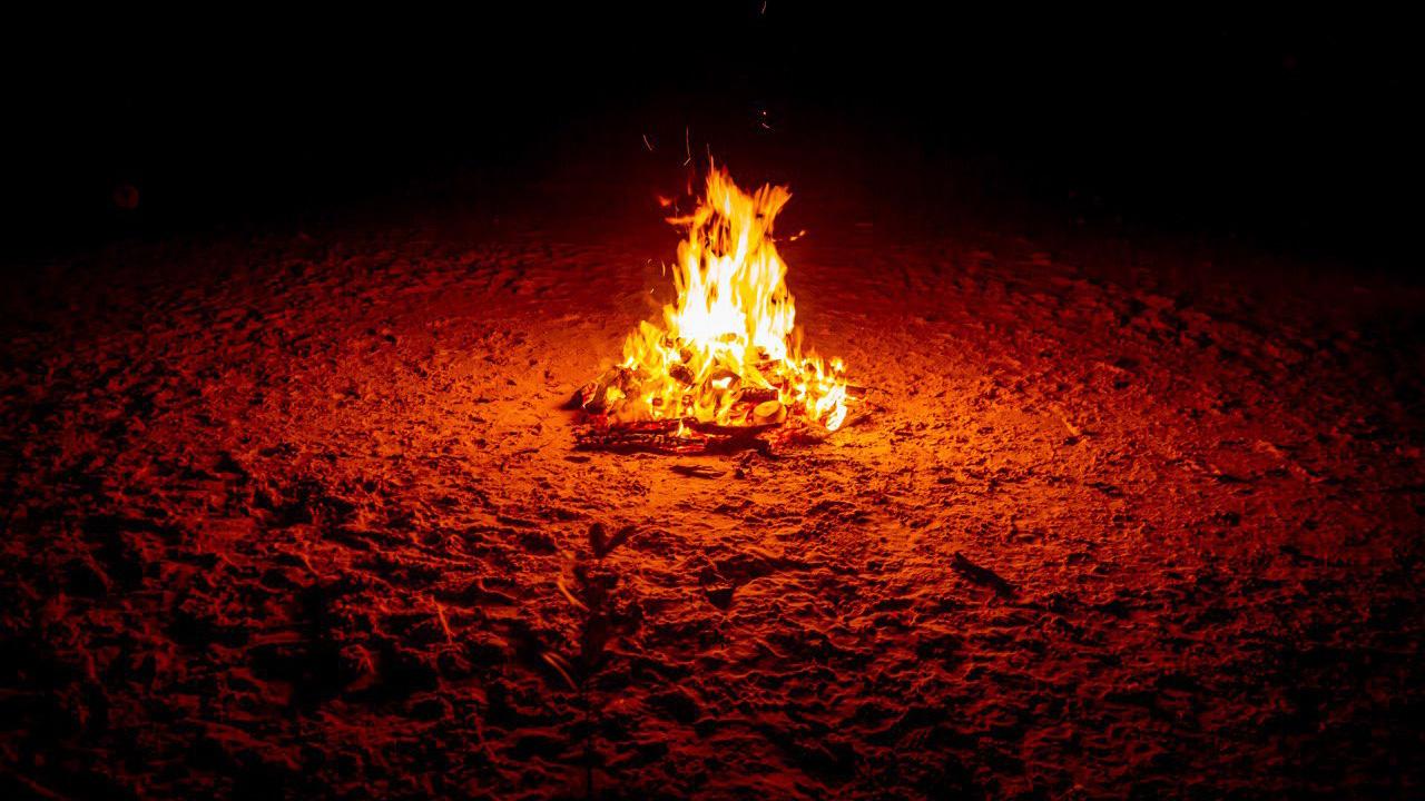 Night bonfire on Phuket