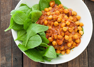 Chickpea Curry (Chole Masala) is a traditional vegetarian South African Indian recipe using a blend of chickpeas, vegetables and eight spices.