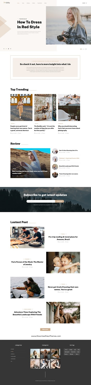 Multipurpose Blog Template