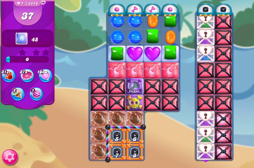 Candy Crush Saga level 8840