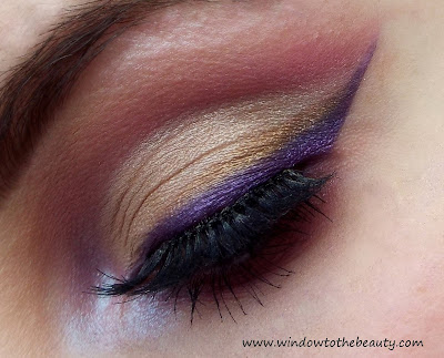 Purple Gold Cut Crease