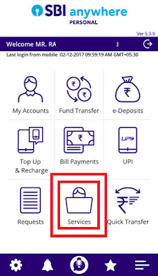 how to manage sbi atm card