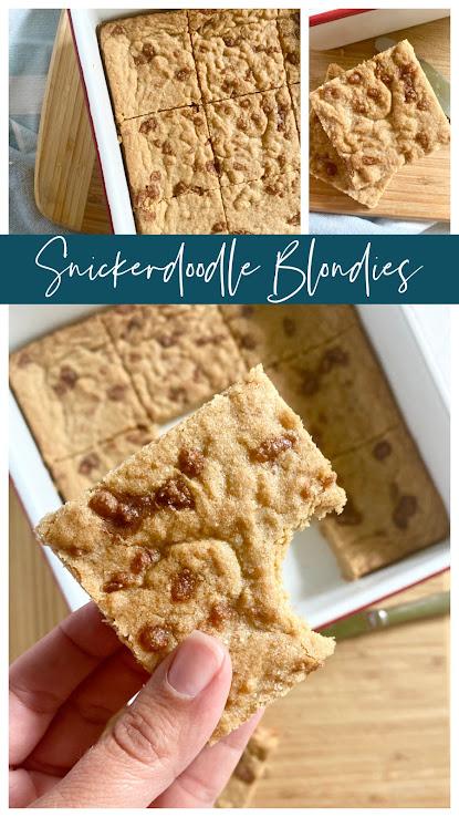 Snickerdoodle Blondies