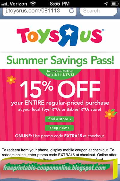 photo about Printable Toys R Us Coupon named Toys r us printable coupon 2019