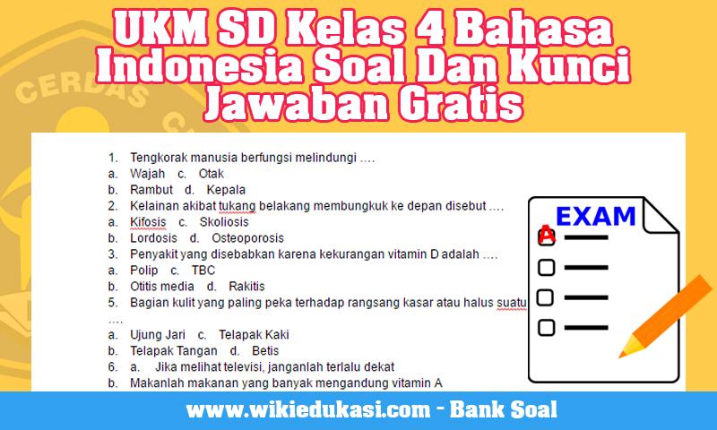 UKM SD Kelas 4 Bahasa Indonesia Soal Dan Kunci Jawaban Gratis
