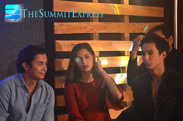 Jasmine Curtis Smith with Ian Batherson (right) and JC Santos (left) star Forever Sucks.