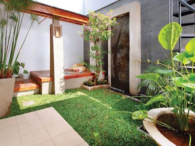 desain taman rumah minimalis simple