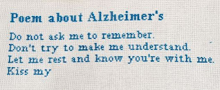 Alzheimer's Poem - Mar 22