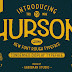 Typporaphic font Hurson - Free Download