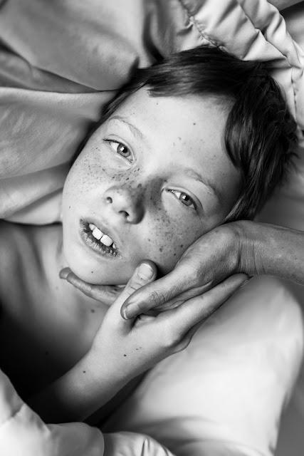 freckle portrait child