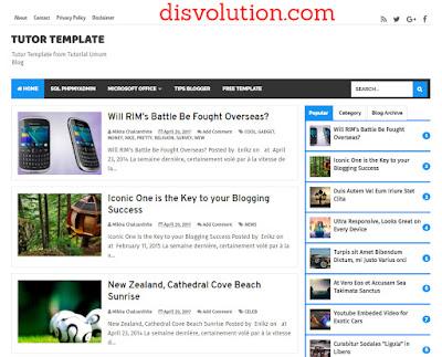 template Terbaru 2017 Tutor Template Blogger Seo Responsive Downloa Gratis