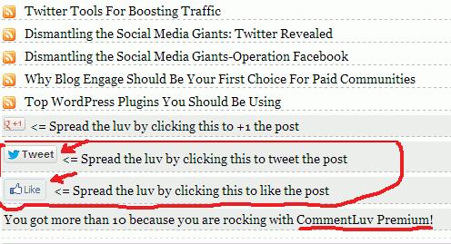 Commentluv Premium