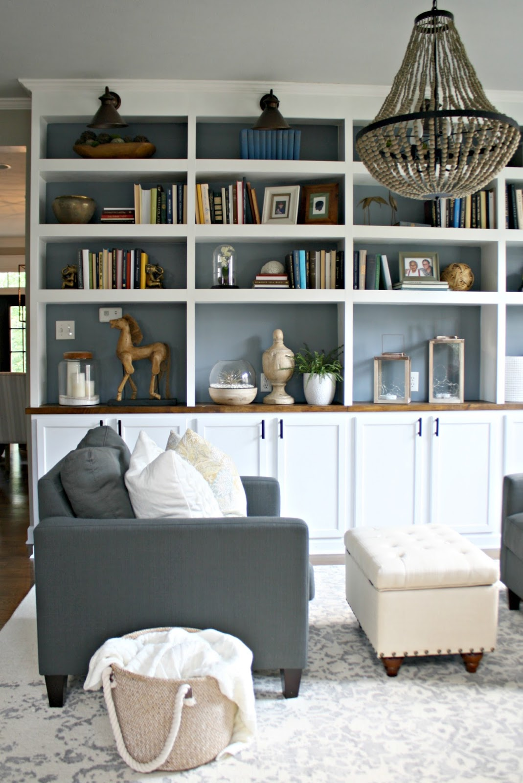 Simplifying The Library Shelves From Thrifty Decor Chick