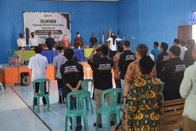 Lantik Pengurus Karang Taruna Desa Aska, Wabup Singgung Soal Kesejahteraan Sosial