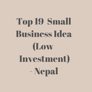 Top 19  Small Business Ideas (Low  Investment) - Nepal