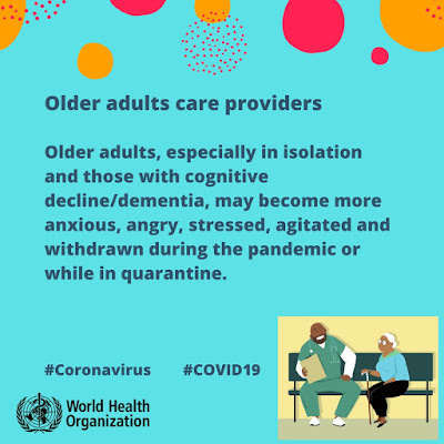 Older adults advice from the World Health Organisation