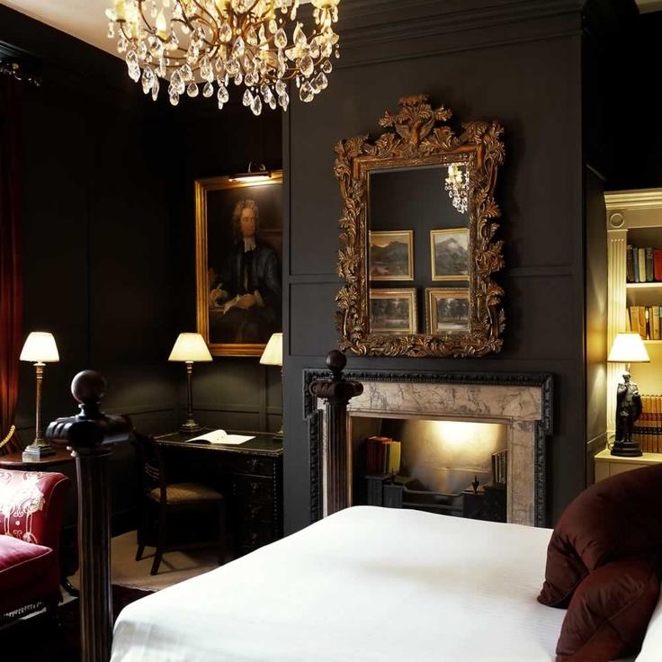 A Dark Cozy Moody Masculine Bedroom Lots Of Wood Dark: Eye For Design: Decorating Dark, Moody Bedrooms