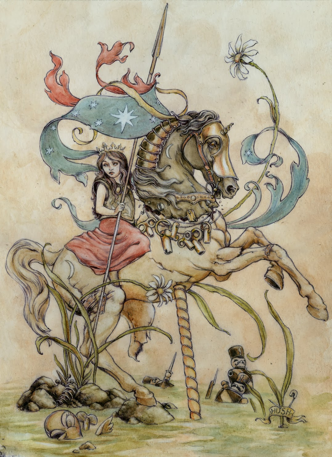 The Chariot- Tarot Under Oath group show  | hushillustration
