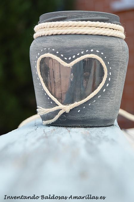 diy decorar botes cristal pintura pizarra