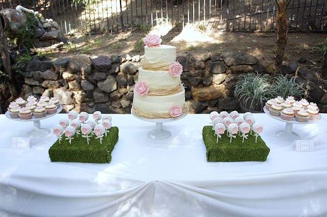 Blush and Ivory Wedding Dessert Table