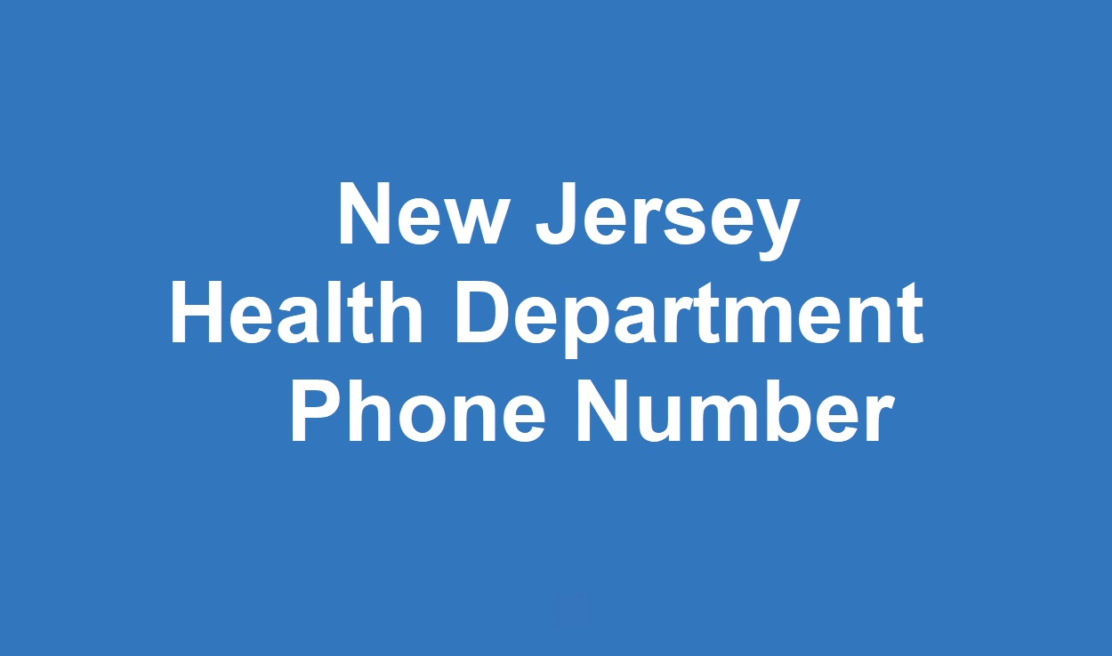 New Jersey  Health Department Phone Number