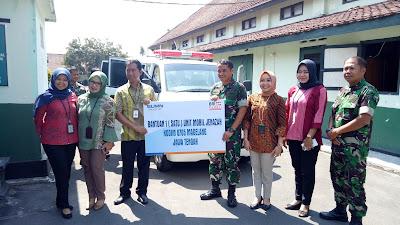 BRI Cabang Magelang Hibahkan Satu Unit Mobil Jenazah Untuk Kodim 0705/Magelan