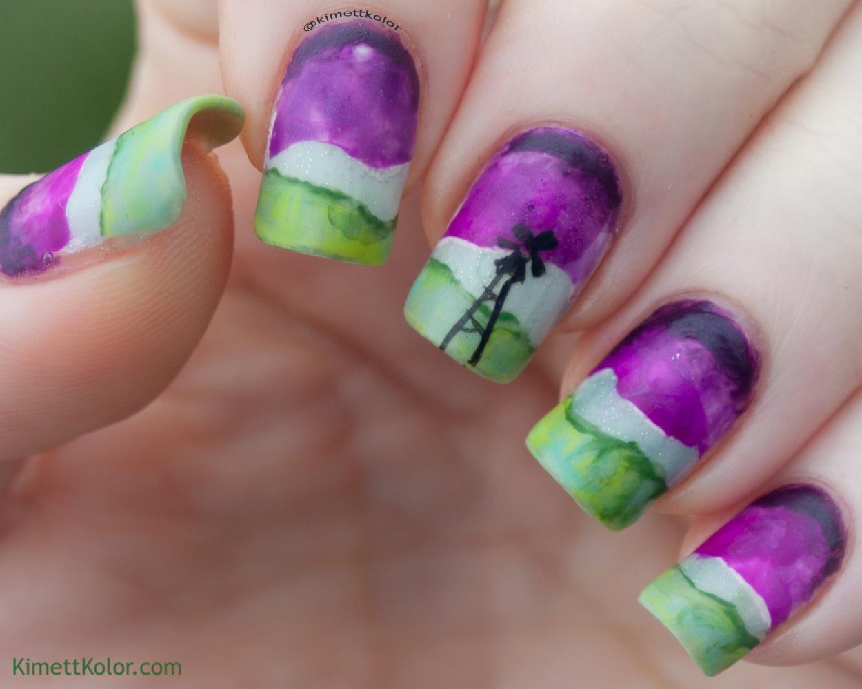 KimettKolor.com Stormy Skies Nail Art