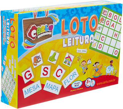Loto Leitura Jogo de Tabuleiro, 5+ Anos, 130 Peças, Multicolorido, 3014