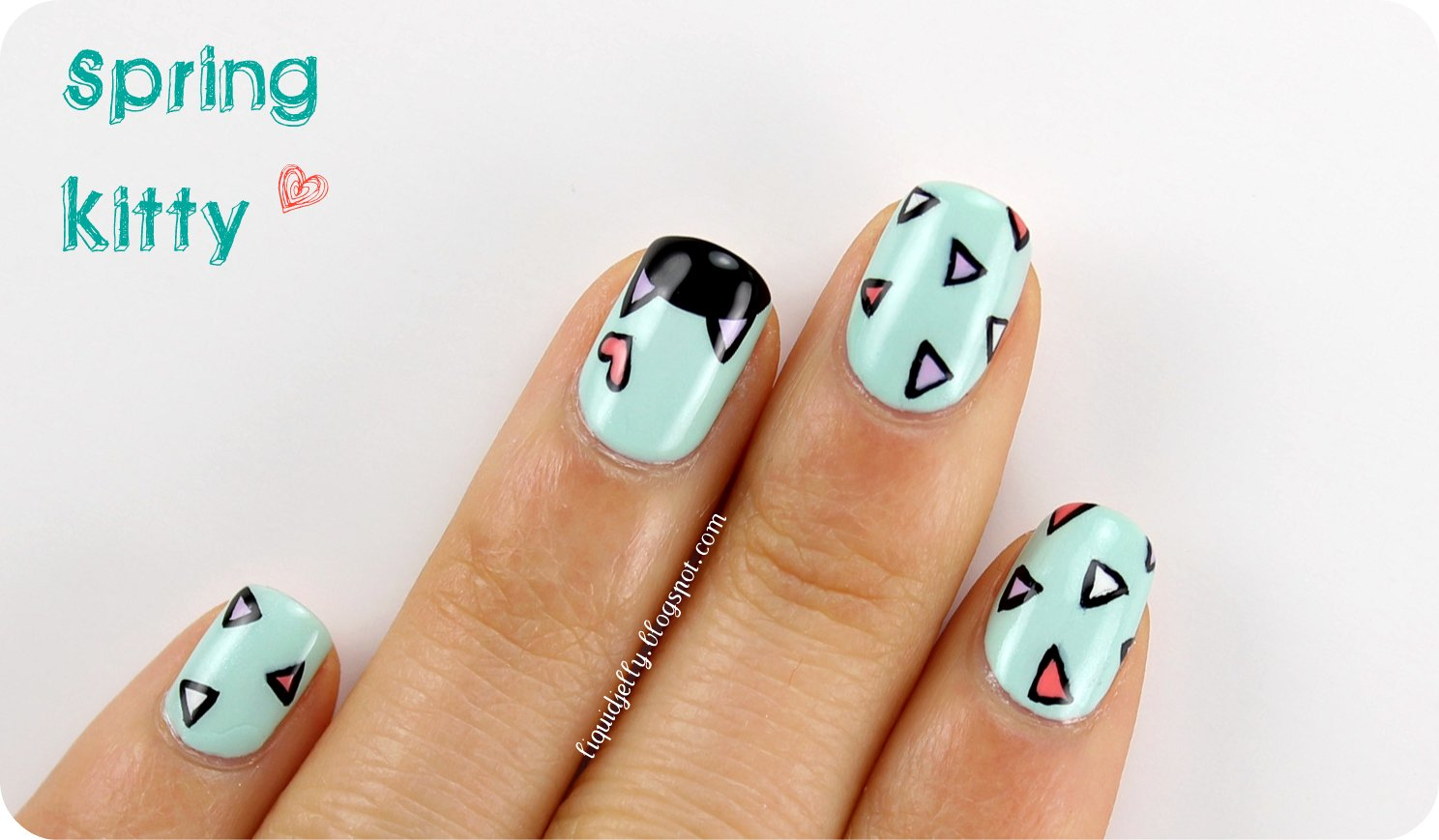 Liquid Jelly: Spring Kitty Nail Art