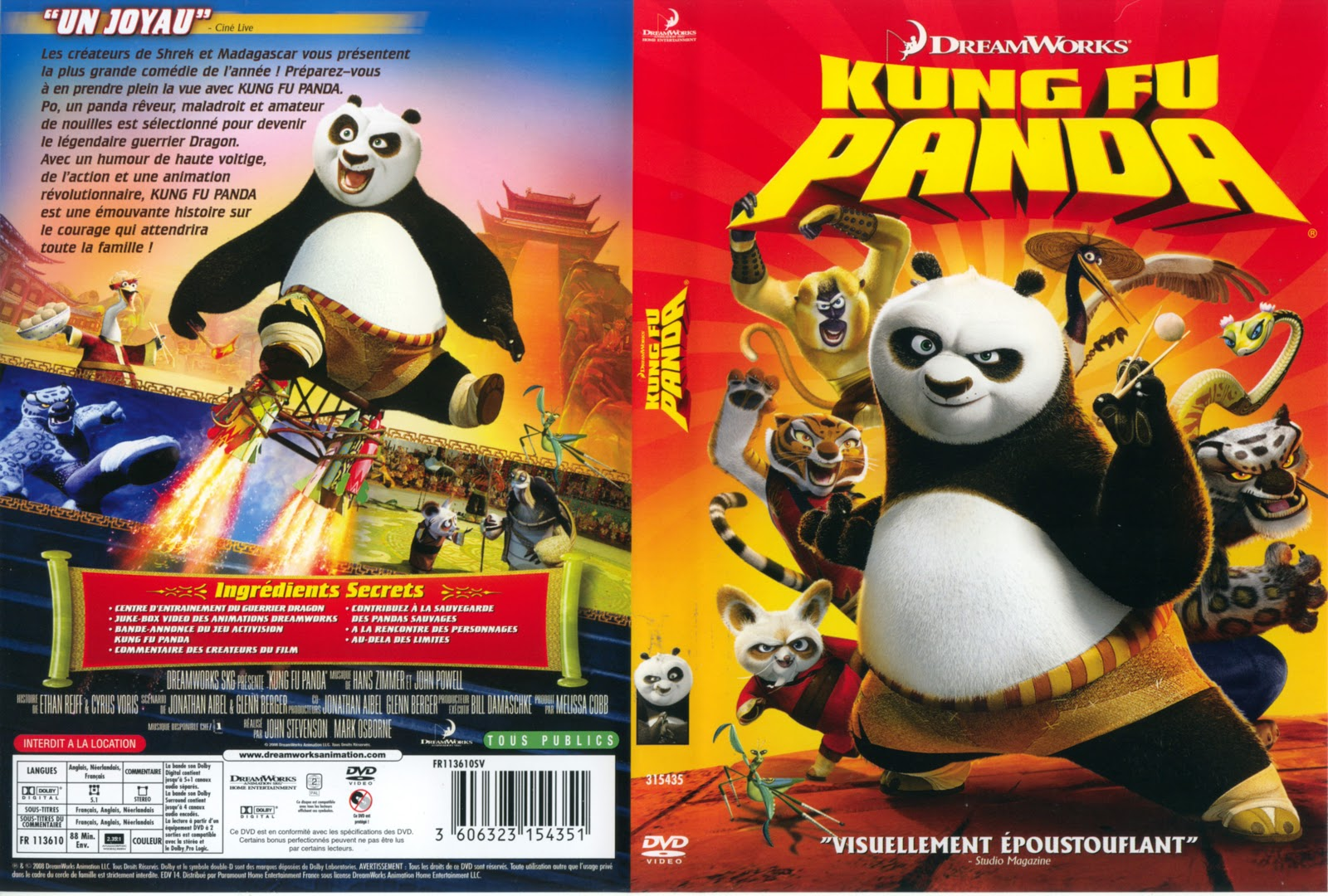 JAQUETTE DVD: Jaquette Dvd Kung Fu Panda