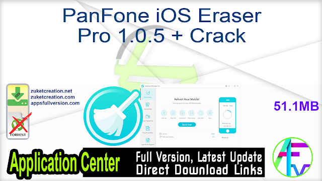 PanFone iOS Eraser Pro 1.0.5 + Crack