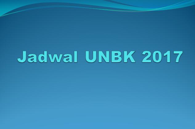 Hasil gambar untuk Jadwal UNBK 2017