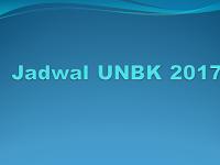 Jadwal UNBK 2017