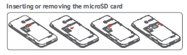 Inserting or removing the microSD card