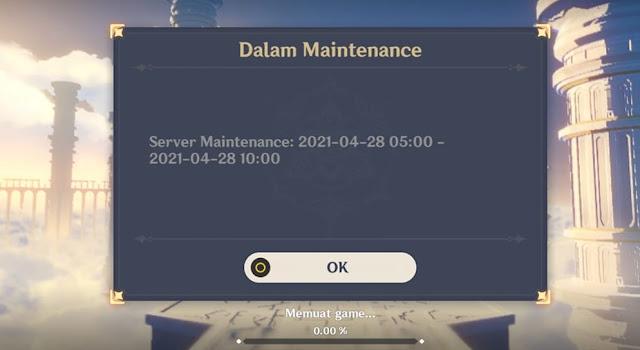 Jadwal Maintenance Genshin Impact 1.5 Hari ini