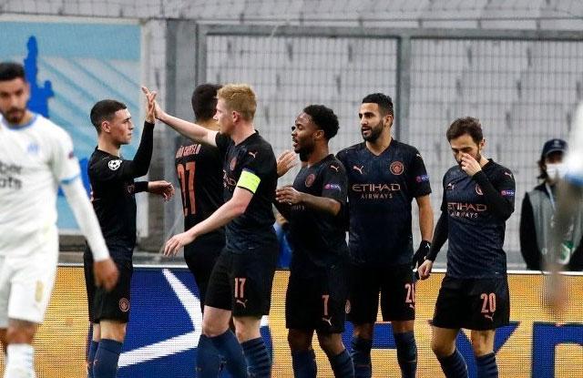 Gol UCL Manchester City vs Marseille