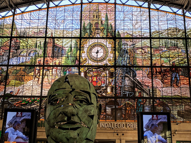 What to see in Bilbao in winter: Stained glass at Abando Station
