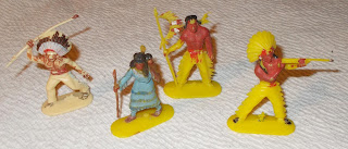 30mm Figures; Cofalux; Cowboy Horses; Cowboys; Cowboys & Indians; Cowboys and Indians; Female With Papoose; Foot Indians; Hong Kong; Jean Höffler; Jean Originals; Made In Germany; Manurba-Big; Mounted Natives; Small Scale World; smallscaleworld.blogspot.com; Stage Coach; Swoppet; Toy Soldier HQ; Wagon Horse; Wild West; Wundertüten;