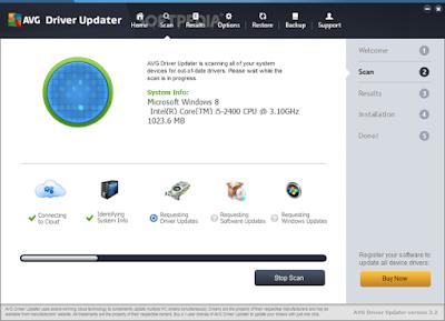 تحميل برنامج تحديث تعريفات الويندوز مجانا AVG Driver Updater
