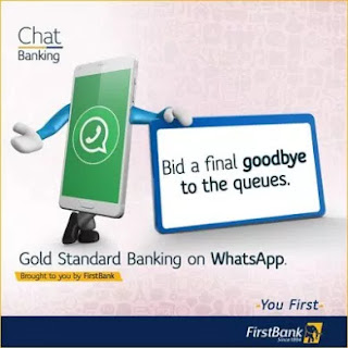 First bank whatsapp number