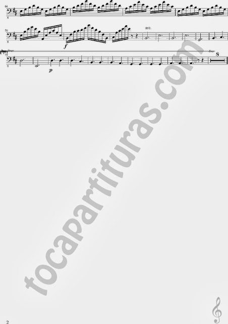 3 Partitura de A Thousand Years para Contrabajo Sheet Music for Contrabass