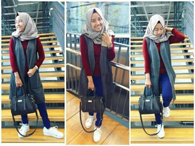 Jual Plus Jilbab / Kerudung 4 In 1 Hijab Ellensia - 12923